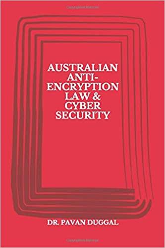 AUSTRALIAN ANTI-ENCRYPTION LAW & CYBER SECURITY (Paperback)
